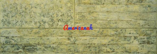 23_Jasper Johns_B%edl%e1 vlajka_1955